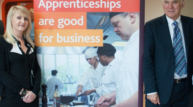 Vince Cable backs Stockport's 100 Apprentices in 100 Days Campaign