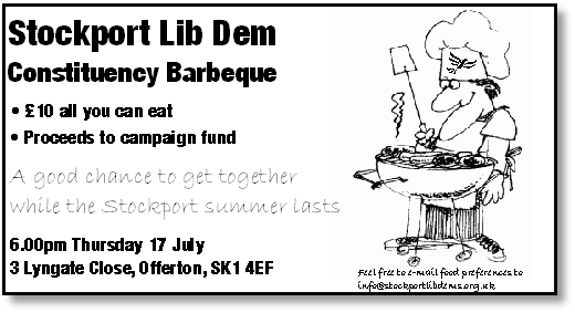Stockport Lib Dem BBQ 2014